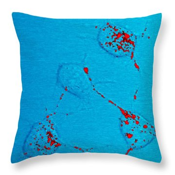 Infectious Prion Protein Throw Pillow by Science Source