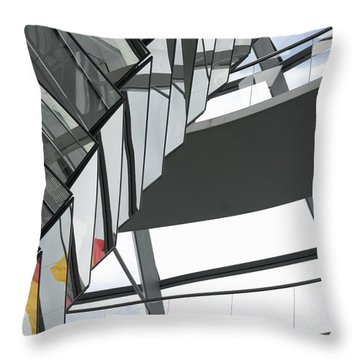 Inside Of The Glass Dome Of Reichstag  Throw Pillow by Igor Sinitsyn