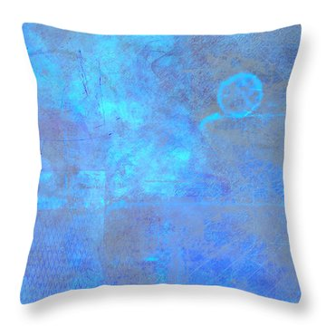 Iridescent Aquamarine Throw Pillow by Christopher Gaston