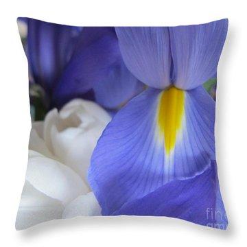 Throw Pillow featuring the photograph Iris by Arlene Carmel