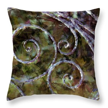 Iron Gate Throw Pillow
