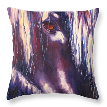 Isis Throw Pillow by Terry  Chacon