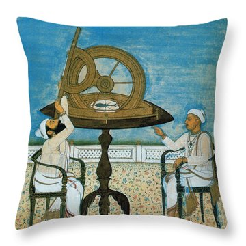Islamic Astronomers Throw Pillow by Science Source