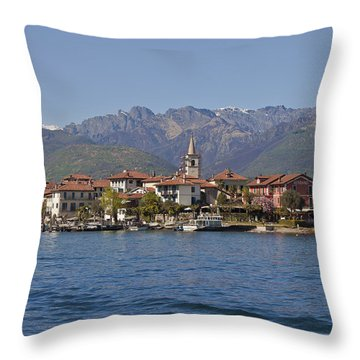 Isola Dei Pescatori Throw Pillow by Joana Kruse