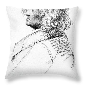 Jacob Grimm (1785-1863) Throw Pillow