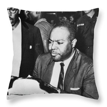 James Farmer (1920-1999) Throw Pillow by Granger