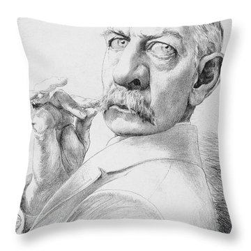 James Gordon Bennett, Jr Throw Pillow by Granger