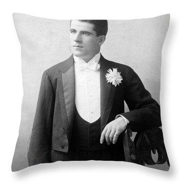 James J. Corbett Throw Pillow by Granger