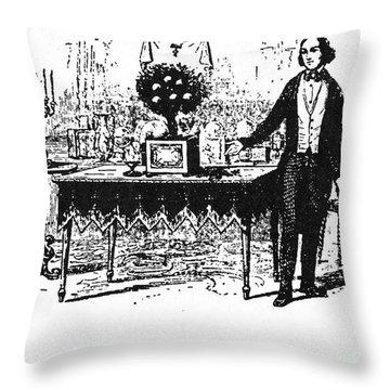 Jean Eugene Robert Houdin Throw Pillow by Granger