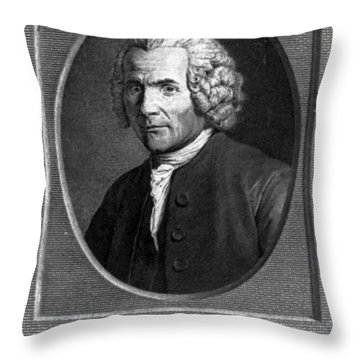 Jean-jacques Rousseau, Swiss Philosopher Throw Pillow by Photo Researchers