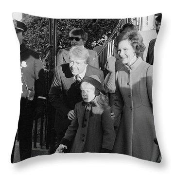 Jimmy Carter (1924- ) Throw Pillow by Granger