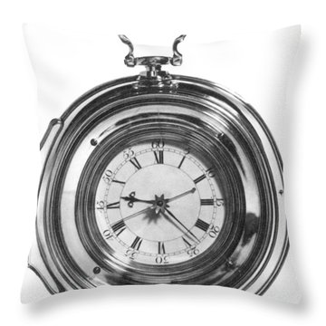 John Harrisons Last Marine Timepiece Throw Pillow by Science Source