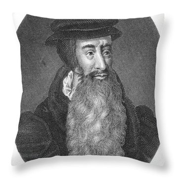 John Knox, Scottish Protestant Throw Pillow by Photo Researchers