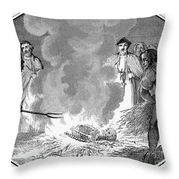 John Wycliffe (1320?-1384) Throw Pillow by Granger