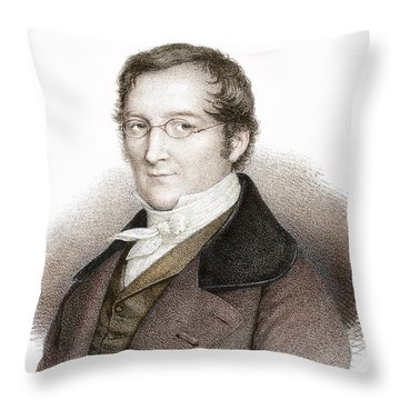 Joseph Gay-lussac, French Chemist Throw Pillow by Science Source
