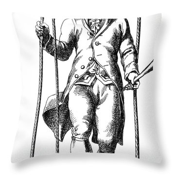 Joseph-michel Montgolfier, French Throw Pillow by Photo Researchers