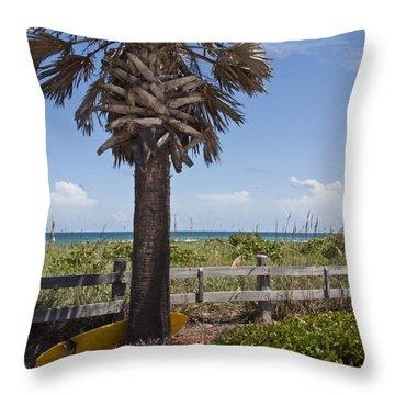 Juan Ponce De Leon Landing Site In Florida Throw Pillow by Allan  Hughes