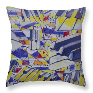 Jumping Jazz Throw Pillow