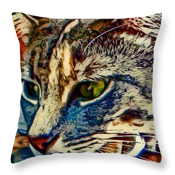 Just Chillin' Throw Pillow by David G Paul