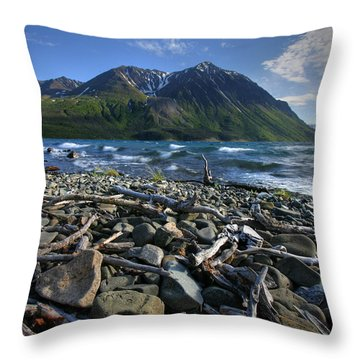 Kathleen Lake, Kluane National Park Throw Pillow by Robert Postma