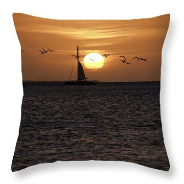 Key West Sunset Throw Pillow by Paul Plaine