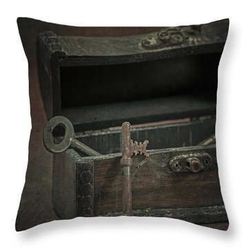 Keys Throw Pillow by Joana Kruse
