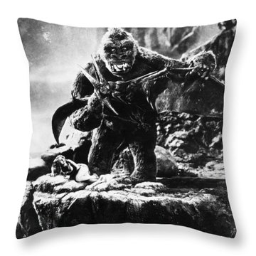King Kong, 1933 Throw Pillow by Granger