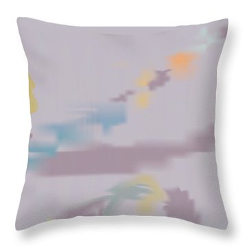 Kundalini Reveals Dna Throw Pillow by Kevin McLaughlin