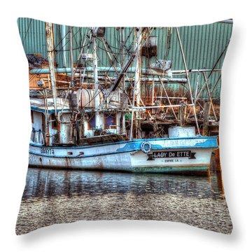 Lady De Ette Throw Pillow by Michael Thomas