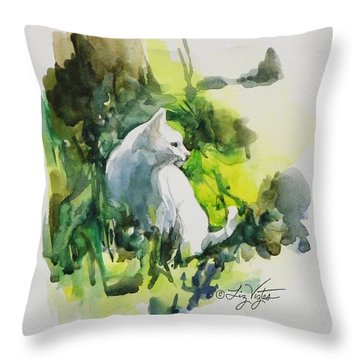Lady In The Sun Throw Pillow