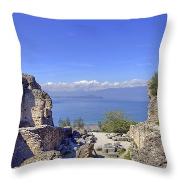 Lake Garda Throw Pillow by Joana Kruse