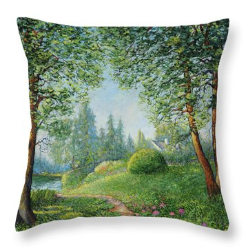 Lake Steilacoom Throw Pillow