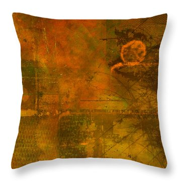 Landscape Of Mars Throw Pillow by Christopher Gaston