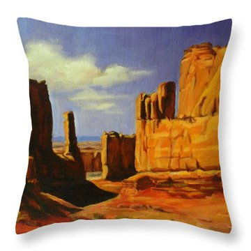 Lane Park  Utah Throw Pillow