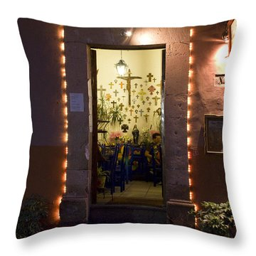 Throw Pillow featuring the photograph Las Cruces by Lynn Palmer