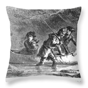 Last Of The Mohicans, 1872 Throw Pillow by Granger