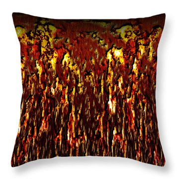 Lava And Brimstone Throw Pillow by Christopher Gaston