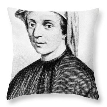 Leonardo Fibonacci, Italian Throw Pillow by Science Source
