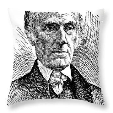 Levi Coffin (1798-1877) Throw Pillow by Granger