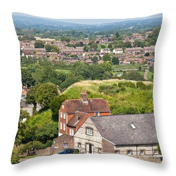 Lewes East Sussex Throw Pillow by Dawn OConnor