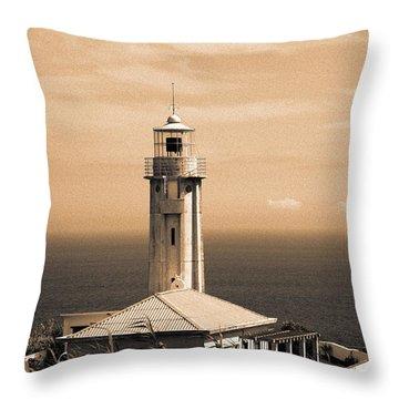 Lighthouse Throw Pillow by Gaspar Avila