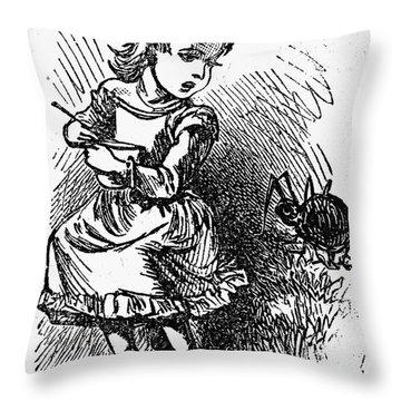 Little Miss Muffet Throw Pillow by Granger