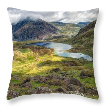 Llyn Idwal Lake Throw Pillow by Adrian Evans