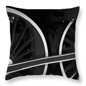 Locomotive Wheels Throw Pillow