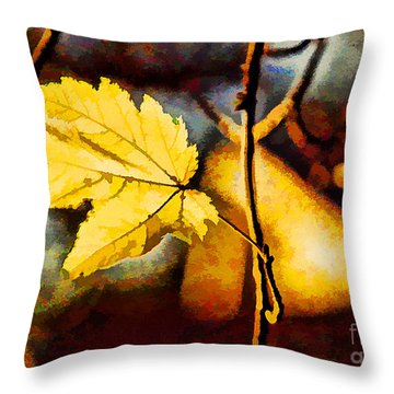 Lone Leaf Throw Pillow by Darren Fisher