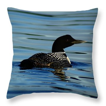 Loon 2 Throw Pillow by Steven Clipperton