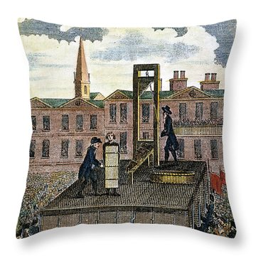 Louis Xvi: Execution Throw Pillow by Granger