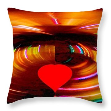 Throw Pillow featuring the photograph Love by Carolyn Repka