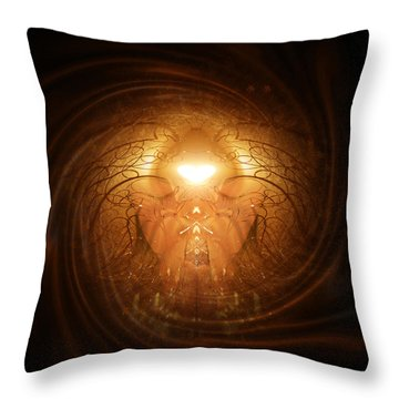 Throw Pillow featuring the painting Love Prayer by Jalai Lama