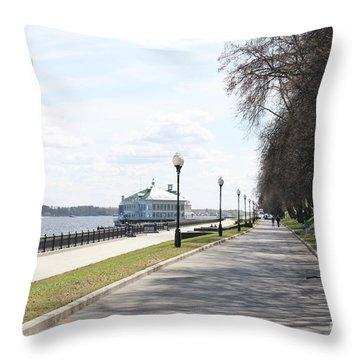 Lower Quay Throw Pillow by Evgeny Pisarev
